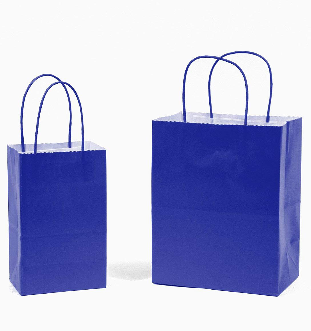 Amazon.com: Bolsas de regalo de papel kraft de color sólido ...