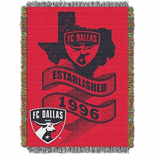 (MLS FC Dallas Handmade Woven Tapestry Throw, 48