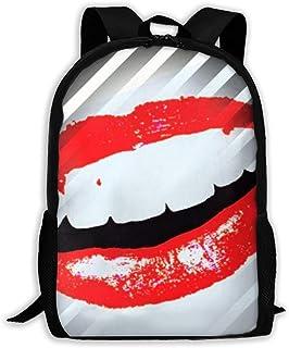 Backpacks Boy's Shoulder Bag Schoolbags School Season Smile Lip Traveling Bags