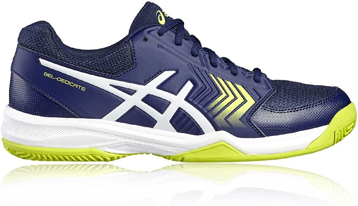 ASICS GEL DEDICATE 5 CLAY AZUL INDIGO Y BLANCO: Amazon.es: Zapatos ...