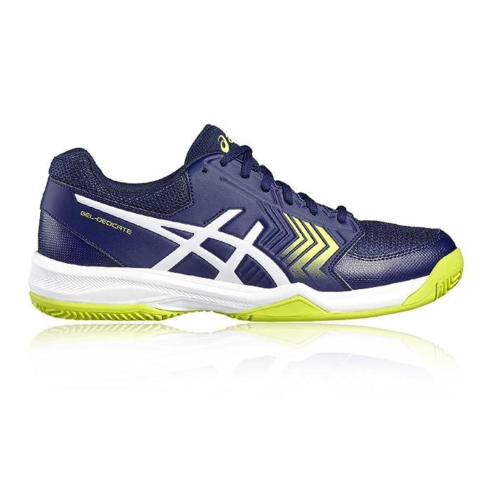 ASICS GEL DEDICATE 5 CLAY AZUL INDIGO Y BLANCO: Amazon.es: Zapatos ...
