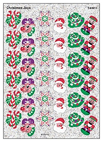 - TREND enterprises, Inc. Christmas Joys Sparkle Stickers, 72 ct