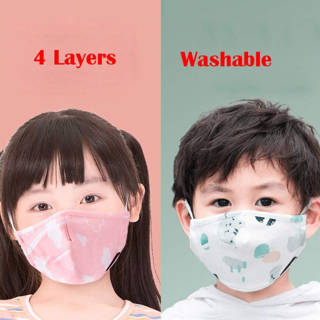 JSPOYOU Kids Children Unisex Cotton s Anti Dust Pollution s Reusable