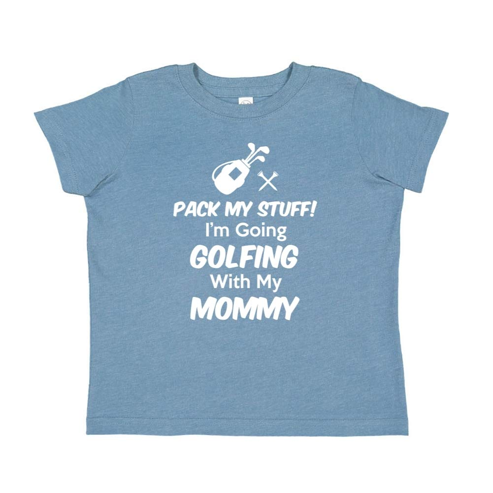 Toddler//Kids Short Sleeve T-Shirt Im Going Golfing with My Mommy Pack My Stuff
