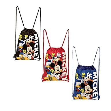 e69b2d58d5d Disney Mickey Mouse and Friends Drawstring Backpacks 3 Pack