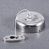 LJ&L Hotel Bathroom Home Balcony Nylon Clothes Line, Creativity Reusable Clothes Line, Round Stainless Steel Case Clothesline,silver