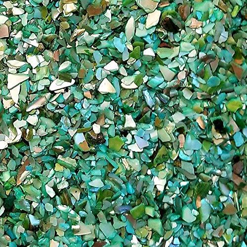 BeachWalk Small Natural Crushed Shells - for Weddings, Vase Filler, Home Décor, and Crafts (32 oz (2 lb), Aqua Green Pearl) -