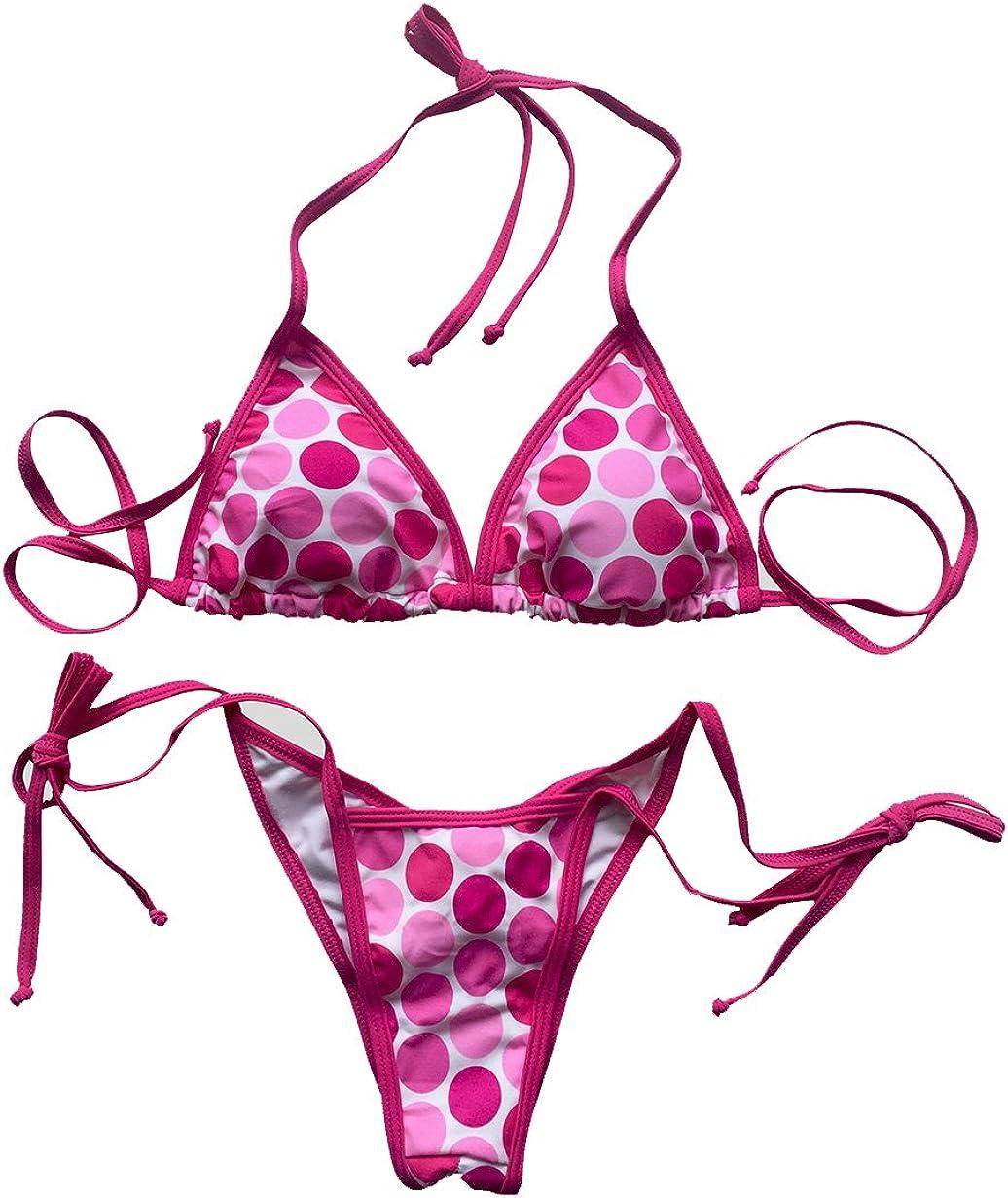 LE BESI Womens Mini Fashion Elegant Inspired Swimsuit Bikini Top Bottom
