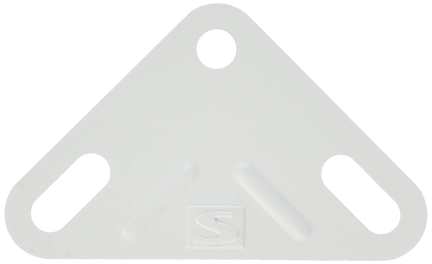 Simonrack 8425437040399 135 x 90 x 56 mm Corner Plates - White (Box of 100)