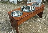 3 bowl dog feeder 12 in. tall