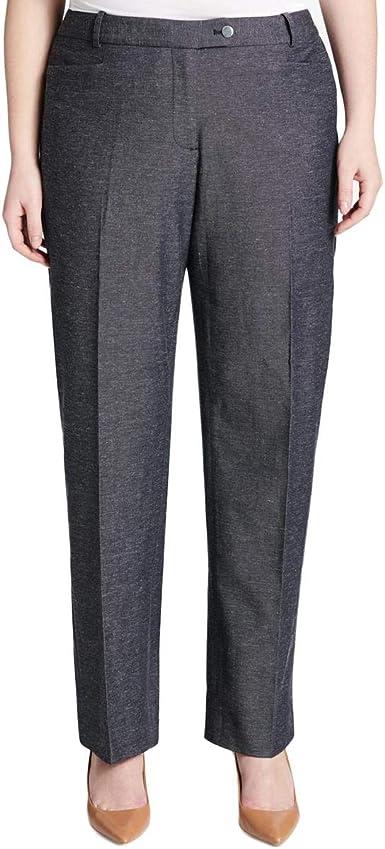 Calvin Klein Pantalones De Vestir De Pierna Recta Con Corte Moderno Para Mujer Azul 16w Amazon Es Ropa Y Accesorios