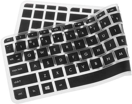Tenlacum Cubierta de teclado de silicona suave impermeable para HP Pavilion 15 (#2)