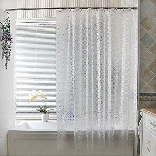 Inn Hampton Bed (Mildew Resistant PEVA Semi-transparent Matte Shower Curtain Waterproof/Water-Repellent with Metal Grommets 78 x 86 inch approx)