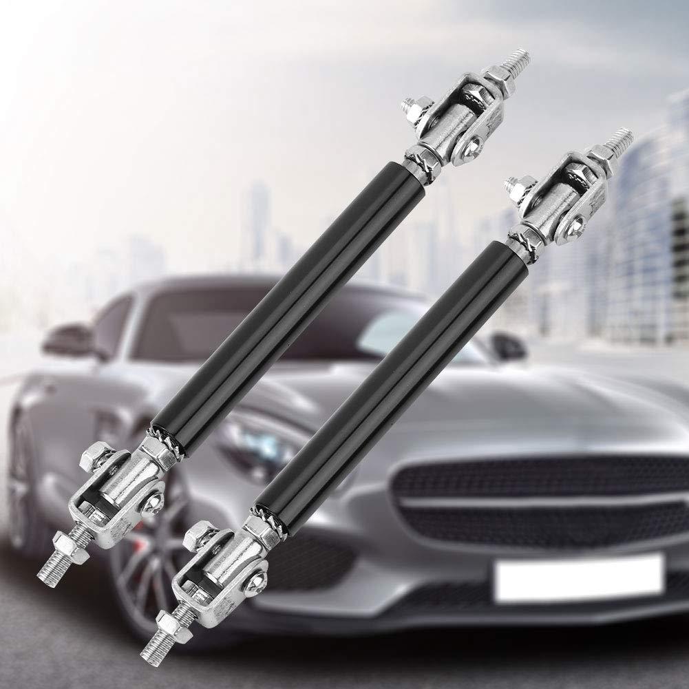 Black Suuonee Bumper Protector Splitter 2PCS 75mm Universal Front Rear Lip Rod Splitter Bumper Protector Support Kit Strut Tie Bar Support