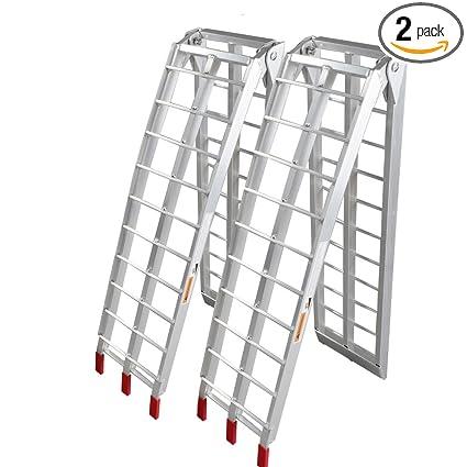 Aluminum Atv Ramps >> Amazon Com Motorhot 2pcs 7 5 Ft 1500 Lb Loading Ramp Folding