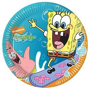 Spongebob Schwammkopf 10 Teller / Partyteller Kindergeburtstag
