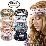 Womens Boho Headband - Floal Fashion Elastic Printed Head Wrap Style Hairband Headscarf Hair Accessories