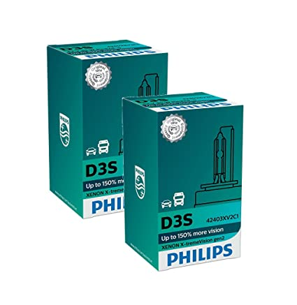 aa9a34f2b6d PHILIPS Xenon X-TremeVision Gen2 +150% D3S HID Xenon Bulbs Set Of Two