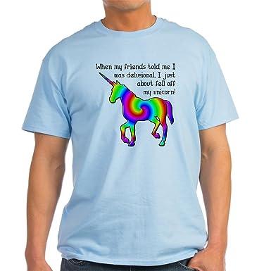 ab5e5011 CafePress Delusional Unicorn Funny T-Shirt Light T-Shirt 100% Cotton T-
