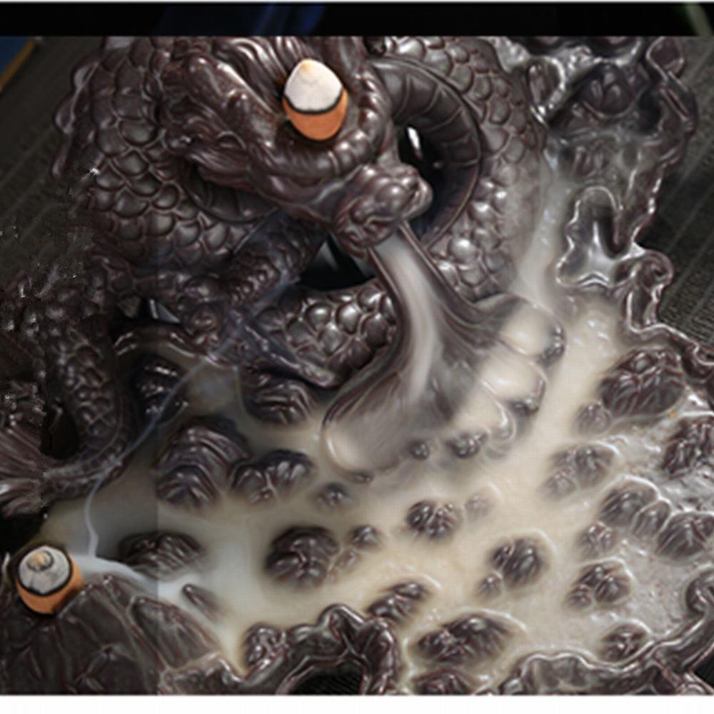 Tongyou Dragon Incense Burner Holder Ceramic Desktop Decoration Home. Crafts Yoga Gift by Tongyou (Image #4)