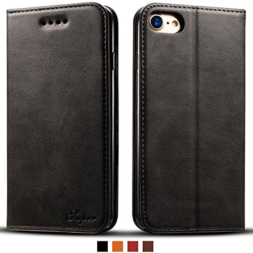 Hawk Wallet (IPhone 6 Smart Leather Wallet Cell Phone Card Holder Case Kickstand Protective Flip Cover, Black)
