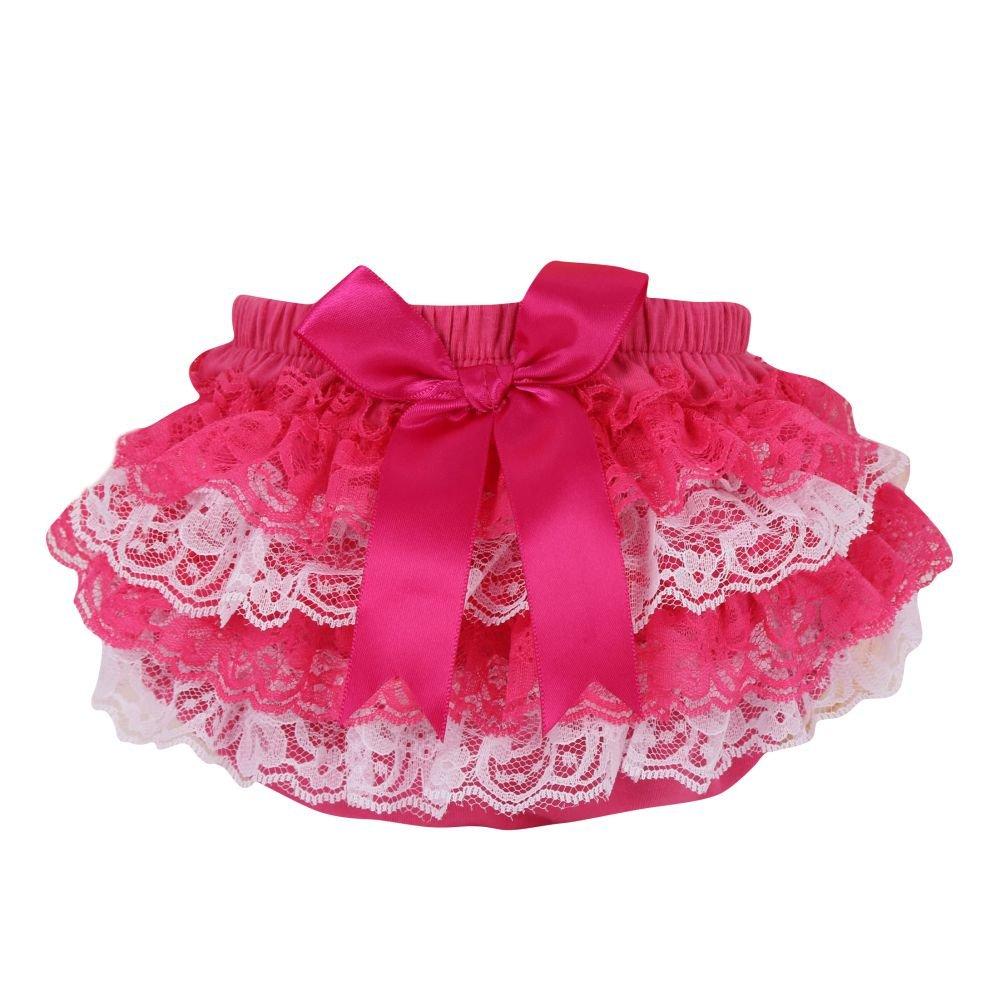 Brightup Toddler Girls Lace Ruffle Pants Tutu Shorts Bottoms Skirts