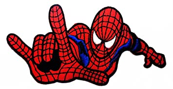 Spiderman Web Superhero Cartoon Logo Patch Jacket T Shirt Sew Iron On Badge Embroidery