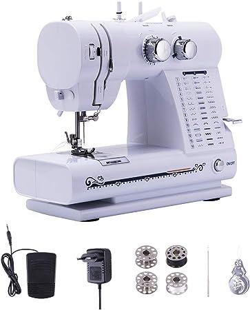 GWELL Máquina de Coser pequeña 42 programas de Costura, con Pedal ...