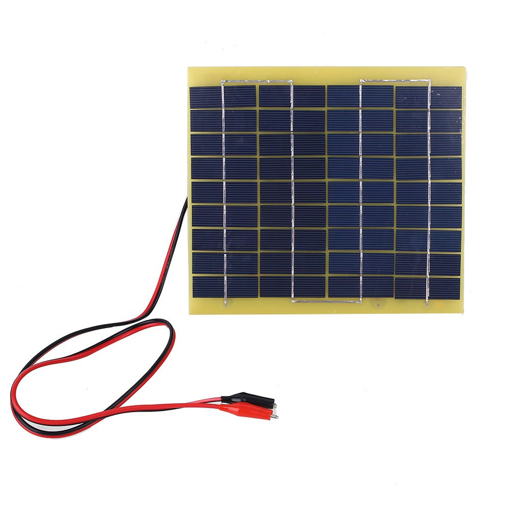 Hanbaili 5W Solar Panel Battery Clips 12V Home Camping Motorcycle Training Boat Charger Cewaal