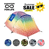 Backpacking Tent - Chillbo Cabbins 2 Person Tent with Awesome Patterns Ultimate Camping Gear for Backpacking Car Camping Music Festivals Family Camping Dome Tents for Camping Sleeps 2-3