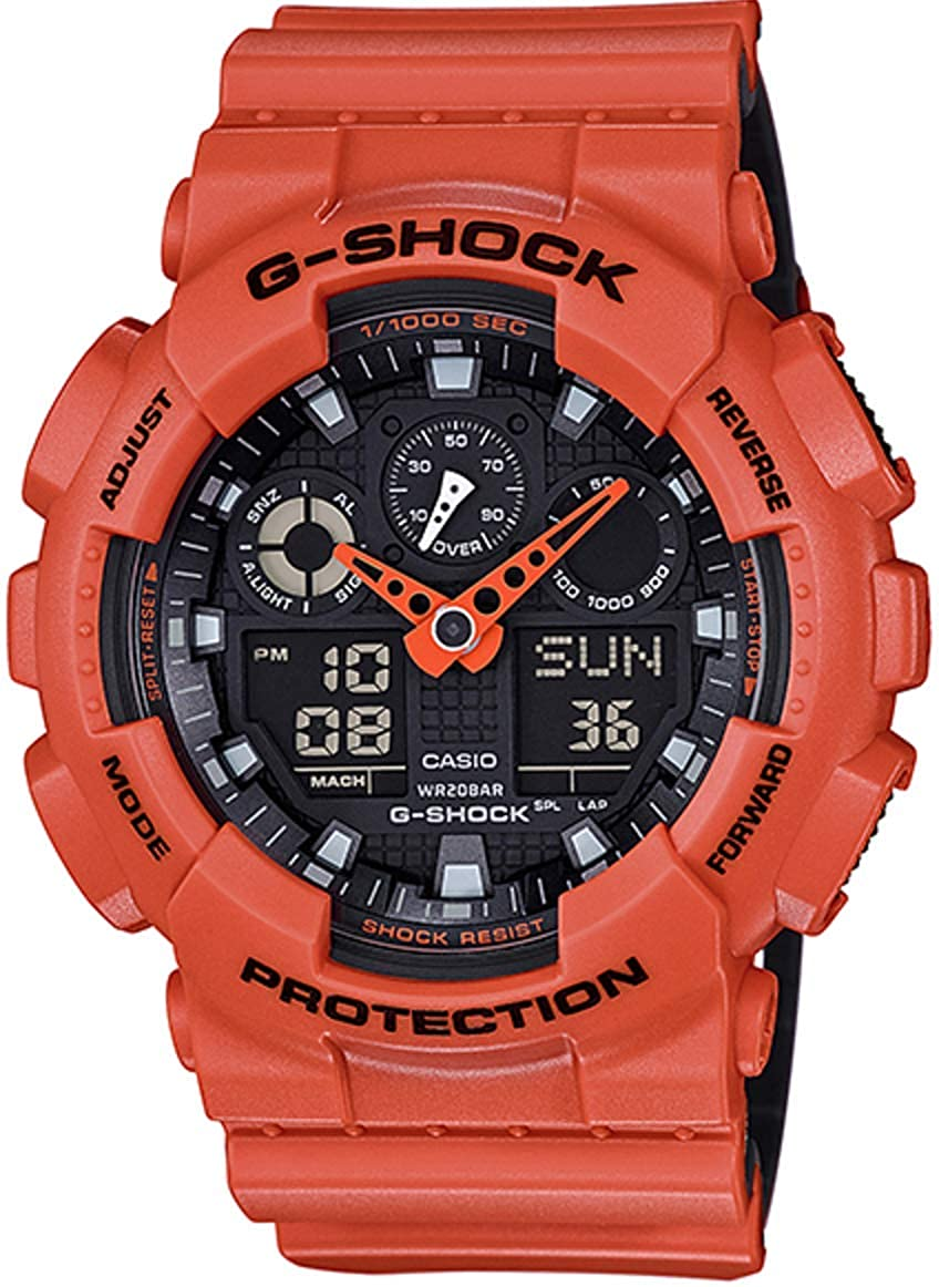 Casio G-Shock GA-100 Military Series Watches – Orange One Size
