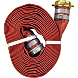 JGB Enterprises A008-0321-1625 Eagle Red PVC Discharge Hose, 2'' x 25', Male x Female Water Shank Couplings, 150 psi Working Pressure, -14 degree F to 170 degree F