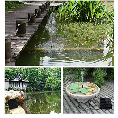 Ankway 1 2w Birdbaths Fountain Pump Solar Powered For Fish Pond New