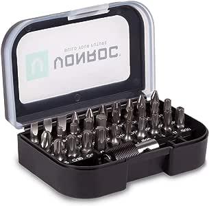 Juego de brocas universales VONROC - 31 piezas - incl. portabrocas, estuche de almacenamiento y clip para cinturón: Amazon.es: Bricolaje y herramientas