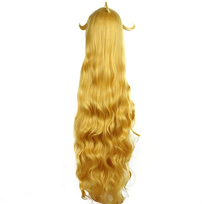 WEATLY Peluca Larga de Cosplay del Animado del Pelo Rizado de Little Loli para Mavis · Vermilion (Color : Yellow): Amazon.es: Hogar