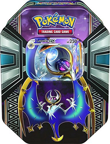 - Pokémon TCG: Sun & Moon - Legends of Alola Tin with Lunala-GX | Includes 4 Pokemon Trading Card Game Booster Packs | Awesome Lunala-GX Themed Collector's Tin to Protect Your Cards & Collectibles