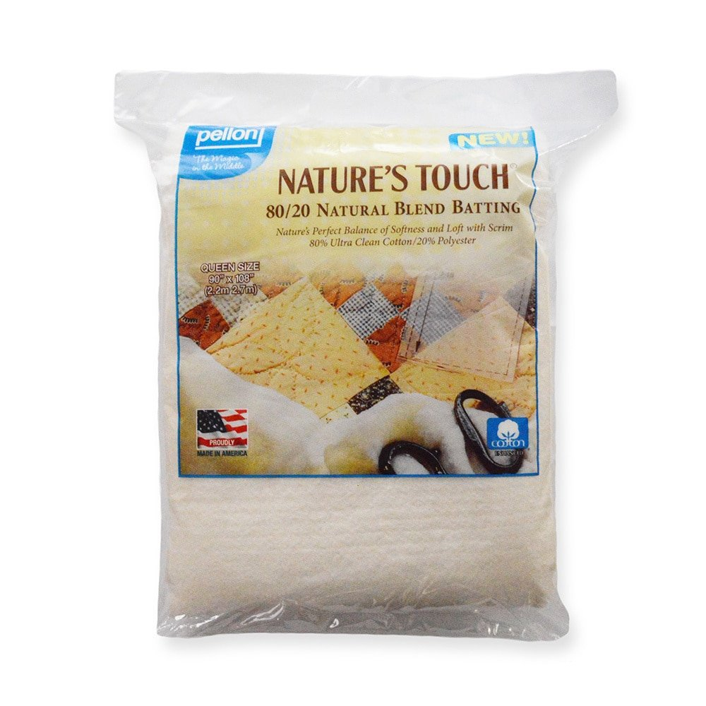 Pellon Nature's Touch Natural Blend 80/20 Batting, Twin-Sized 72 in. x 90 in. Packaged PCP GROUP LLC. EB-7290