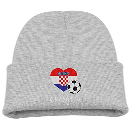 Amazon.com  Yimo Love Croatia Soccer Kids Casual Beanies Black ... 1fbee82b9aac