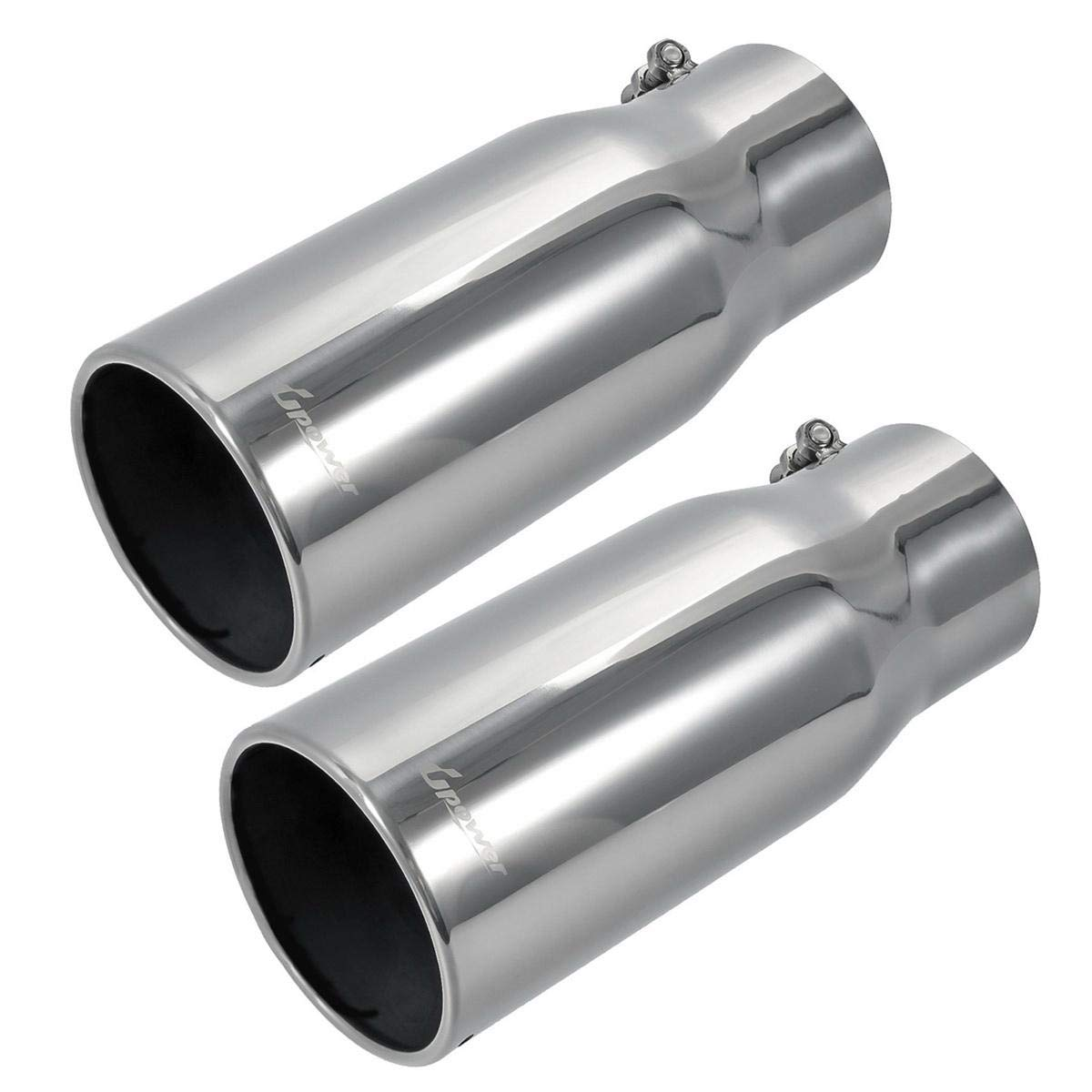 "Black Diesel Stainless Steel Bolt On Exhaust Tip 5/"" Inlet 15/"" Long 6/"" Outlet"