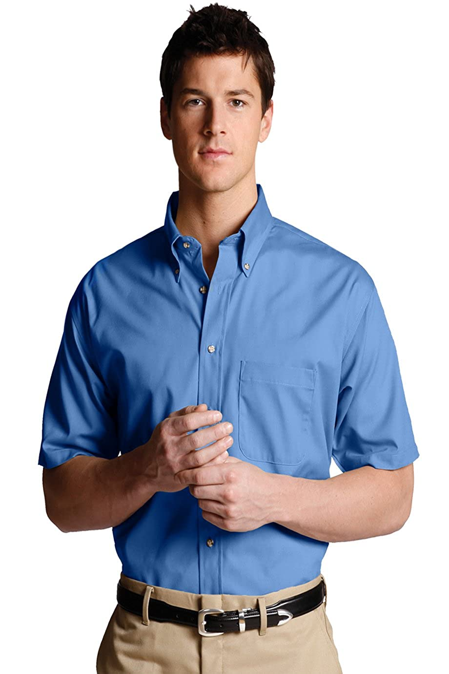 Edwards Garment Mens Big And Tall Button Down Poplin Shirt/_FRENCH BLUE/_3XLT