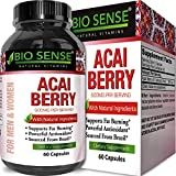 Acai Berry Detox Weight Loss Supplements Antioxidant Superfood Increase Energy Heart Health Burn Belly Fat Immune System Booster Skin Care Anti-Aging Improve Clarity Libido