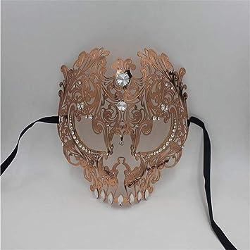 ParttYMask Mascarada,Halloween Esqueleto máscara Metal Diamantes máscara Fiesta de Vestir Venecia máscara Terror máscara