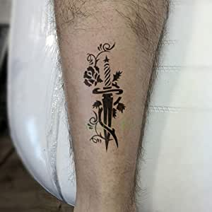 tzxdbh 2 Unids Impermeable Pegatina Tatuaje Temporal escorpión ...