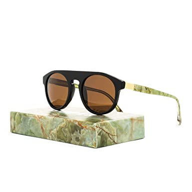 277ed7cc06bc Image Unavailable. Image not available for. Color  RETROSUPERFUTURE Super  Racer Onice Verde Sunglasses I07 Black Gold Mineral Brown