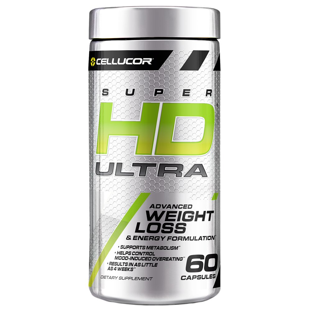 Cellucor SuperHD Ultra Thermogenic Fat Burner for Men & Women, Weight Loss Supplement with Green Coffee Bean & Leaf Extract, Metabolism & Energy Booster, 60 Capsules by Cellucor