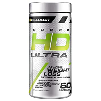 Cellucor Superhd Ultra Thermogenic Fat Burner For Men Women Weight Loss Supplement With Green