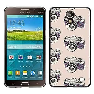 Cubierta protectora del caso de Shell Plástico    Samsung Galaxy Mega 2    cámara de fotos fotógrafo blanco negro @XPTECH