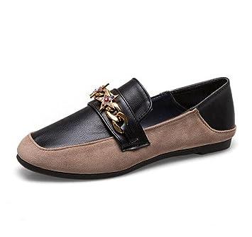 KUKI Zapatos de Carrefour, zapatos planos de mujer zapatos de gamuza diamante informal , 3
