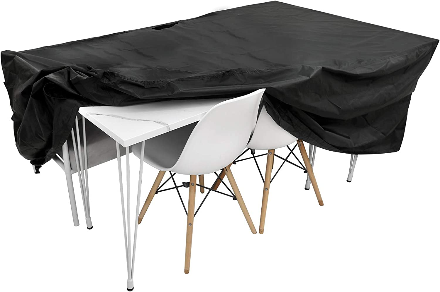 Comfook Patio Rectangular Furniture Set Cover Outdoor Table and Chair Furniture Set Covers 420D Oxford PU Coated Water UV Resistant Rain Snow Dust Wind-Proof Fits for 4-6 Seats(74.8