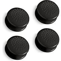 Fosmon [4 Pack / 2 Pair] Analog Stick Joystick Controller Performance Thumb Grips for PS4 | PS3 | Xbox One / One X / ONE S | Xbox 360 | Wii U (Solid Black)